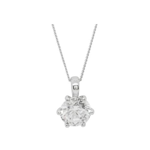 Espree silver pendant with white CZ (5744)