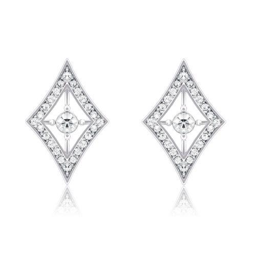Espree rhodium and crystal earrings (7019)