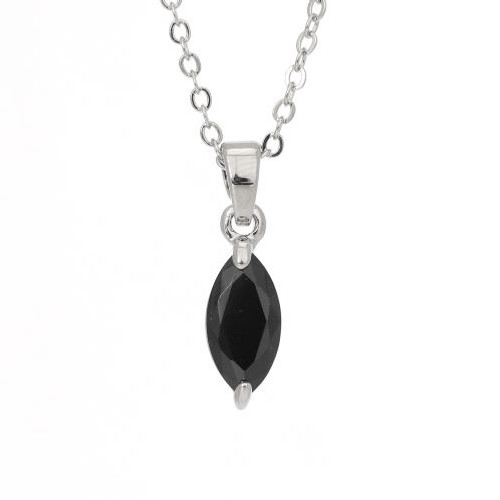 Espree black crystal marquise pendant (2089)