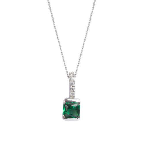 Espree Silver and Emerald green CZ pendant (5777)