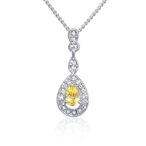 Espree citrine CZ and crystal pendant (7047)