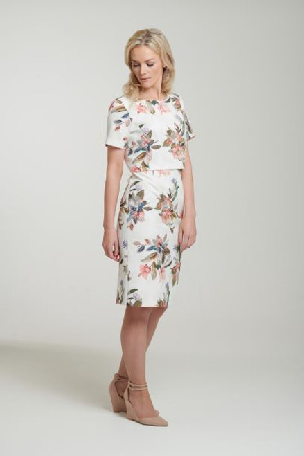 Libra flower print spot dress (LD1109)