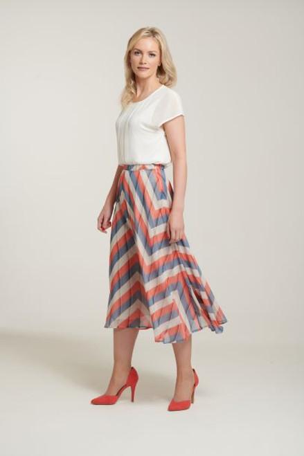 Libra Multi Stripe Floaty Skirt (LSK1112)