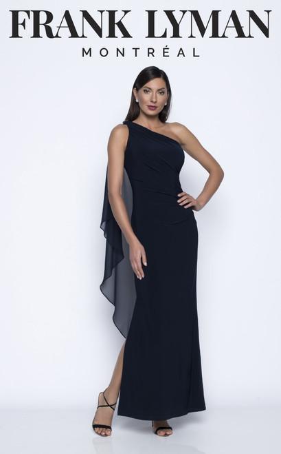 Frank Lyman one shoulder evening gown 208019
