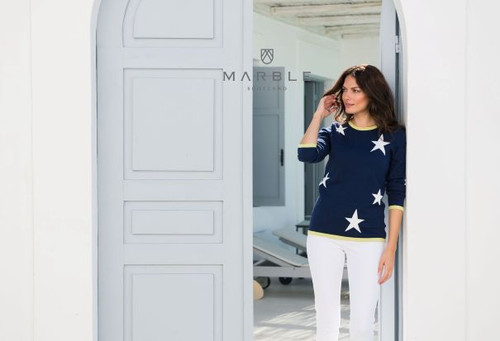 Marble Sweater with stars (5678)