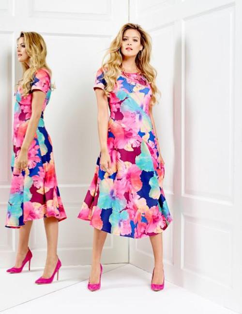 Tia multi flower print dress 78231 7443