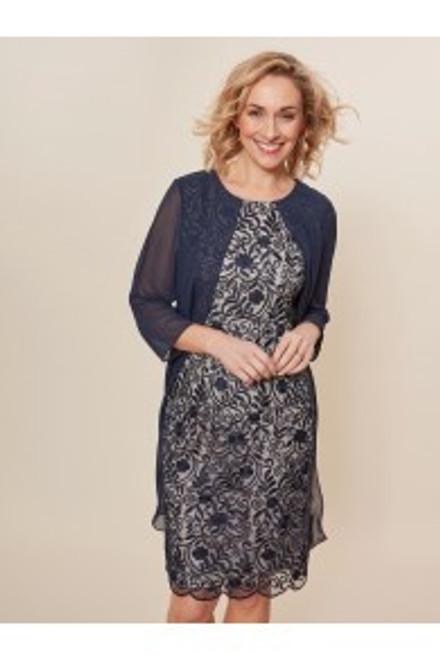 Gina Bacconi lace and chiffon coat dress SBZ5759