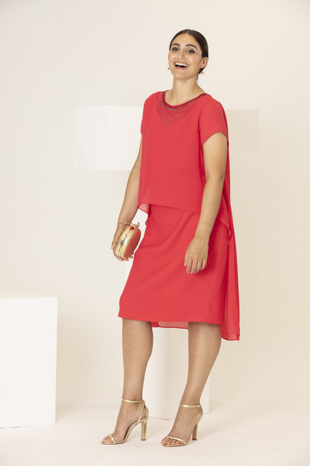Personal Choice Dress with beaded chiffon overlay PCS20116