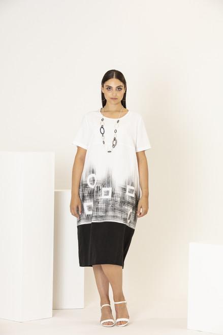 Personal Choice Placement Print Dress (PCS20127)