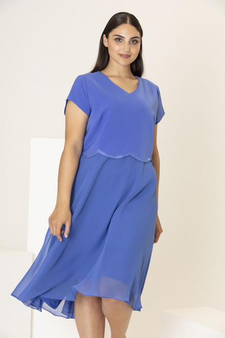 Personal Choice Dress with Scallop Overtop (PCS20117)