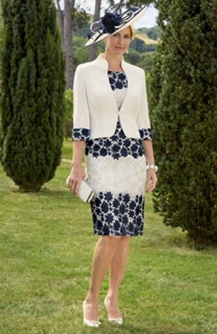Condici navy and cream lace suit (70933)