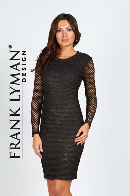 Frank Lyman Black mesh cocktail dress (54410)