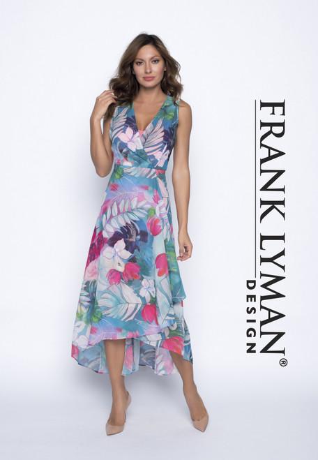Frank Lyman dipped hem floral dress (191301)