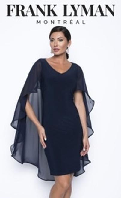 Frank Lyman chiffon cape dress (199201)