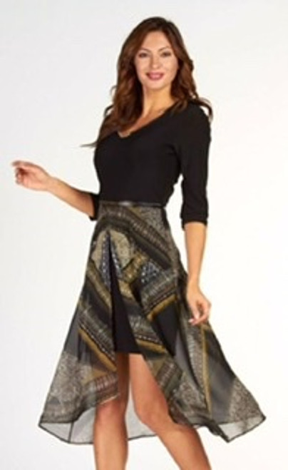 Frank Lyman chiffon overskirt Dress (63139)
