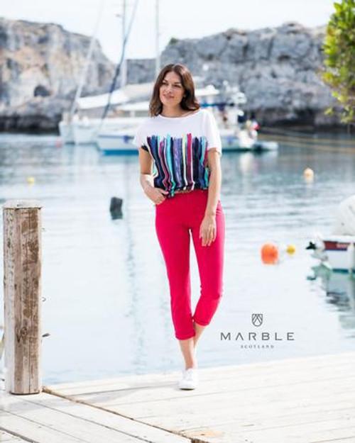 Marble multi stripe T Shirt 5644