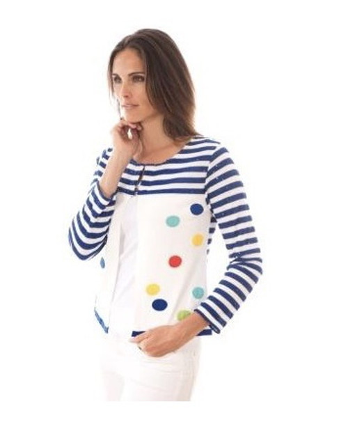 Olivier Philips spot and stripe cardigan 18887711