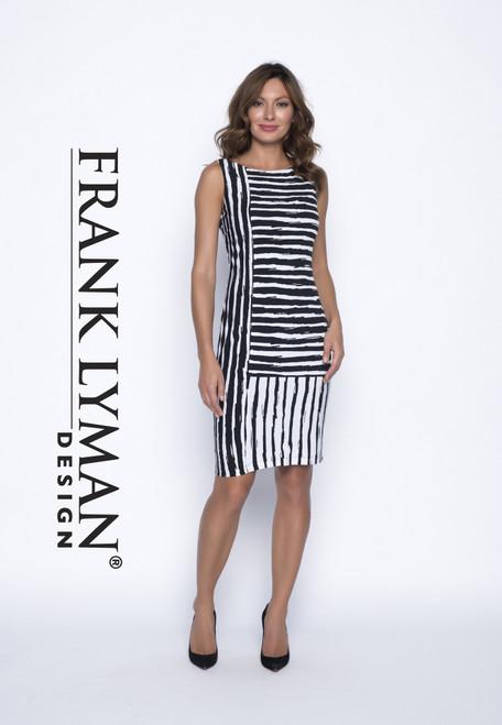 frank lyman stripey dress (191422)