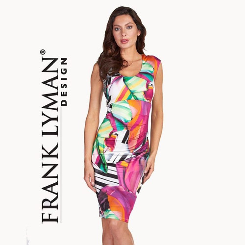 Frank Lyman multi colour sleevless dress (66322)