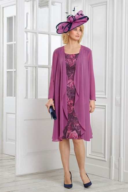 Condici Vintage Roses Lace Dresss With Long Chiffon Jacket (71022)