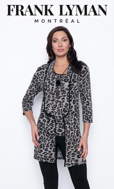 Animal Print Long Sleeve Cardigan (203379)