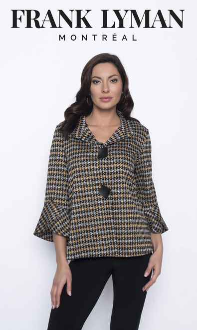 Frank Lyman Houndstooth Jacket With Bell Sleeves (203635)