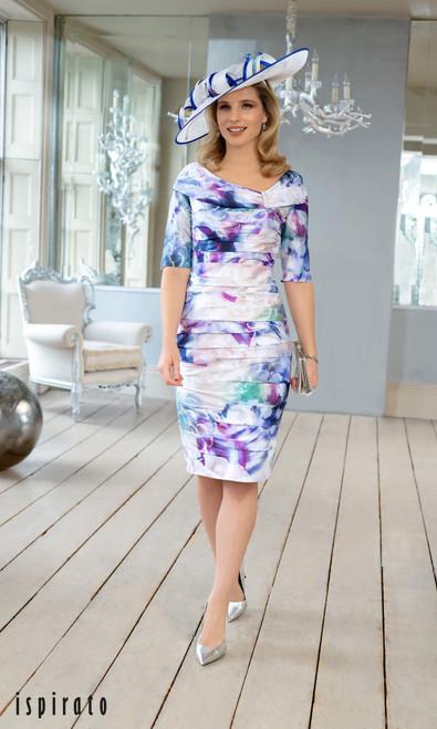 Ispirato Arlequin Print Dress (ISF800)