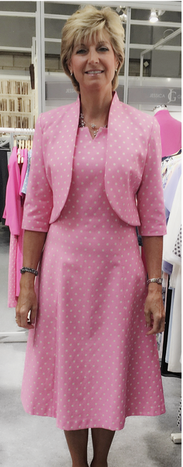 Tina Taylor spot midi dress (540839)