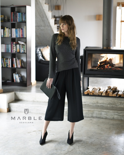 Marble Soft Jumper With Studs Embellishments  (5823)