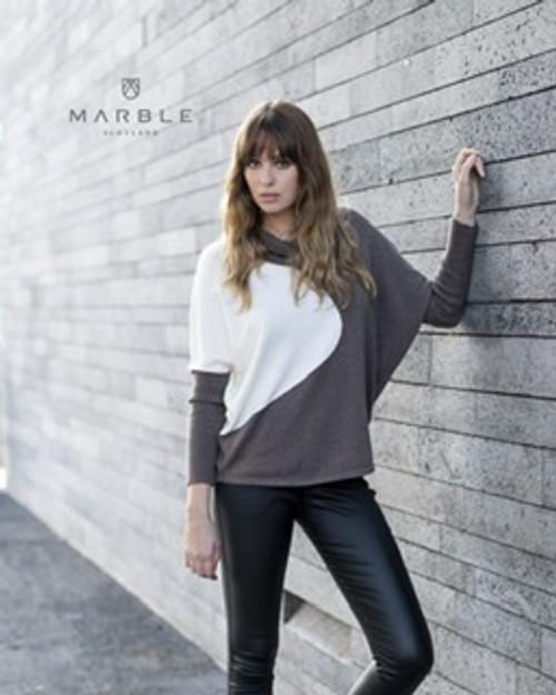 Marble Cowl Neck Jumper (5877)