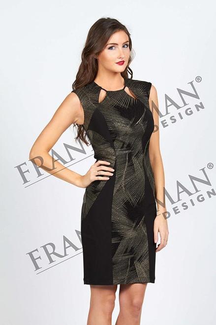 Frank Lyman Gold/Black Short Dress (53426)
