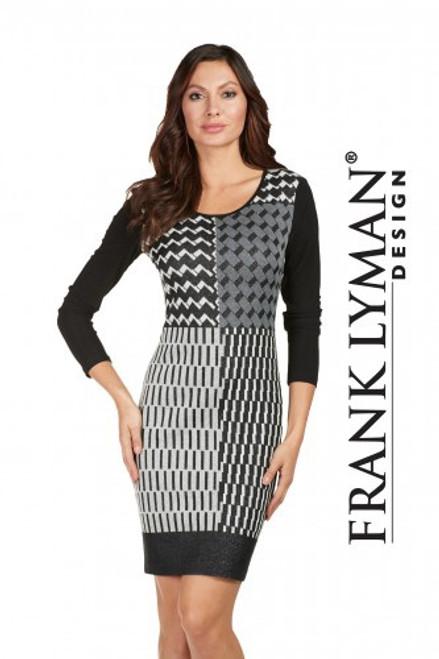 Frank Lyman black and grey day dress (173154)