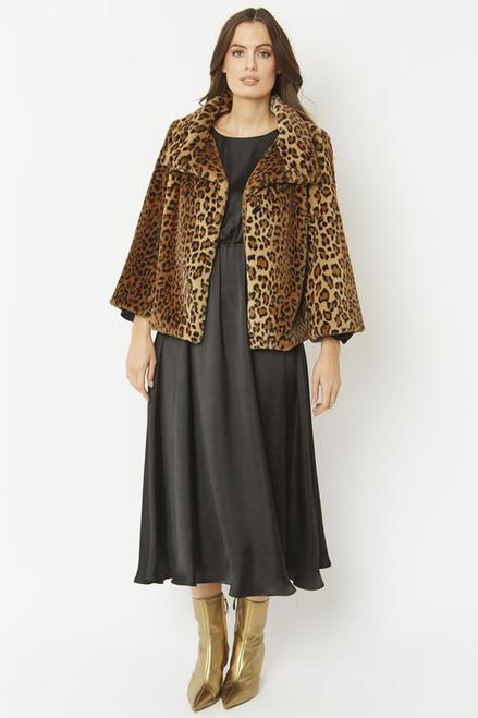 Jayley Faux Fur Animal Print Jacket (FF5019A-04)