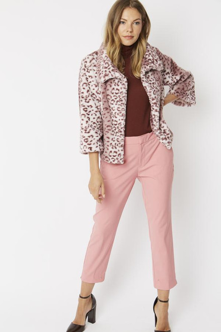 Jayley Faux Fur Animal Print Jacket (FF5019A-06L)