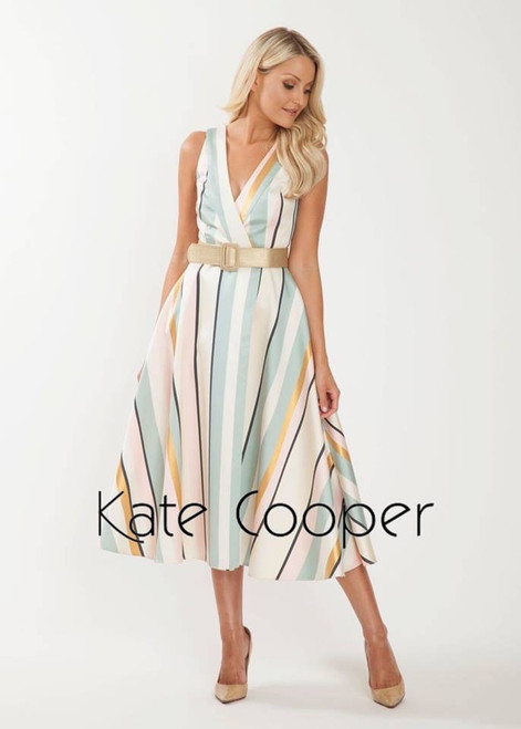 Kate Cooper stripe flare dress (KCS19104)