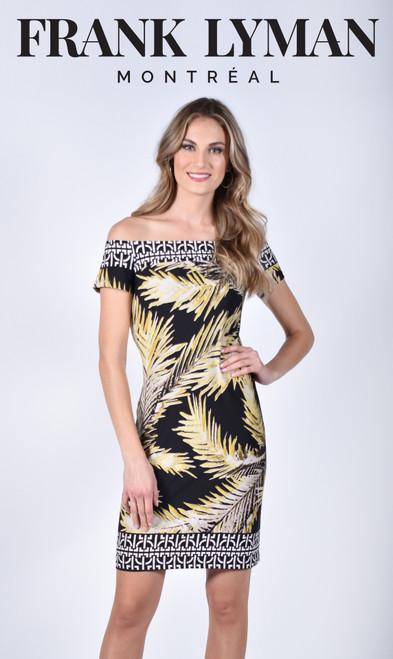 Frank Lyman Bardot Off Shoulder Dress  (211204)