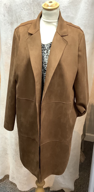 Personal Choice Suedette coat (PCAW19122)