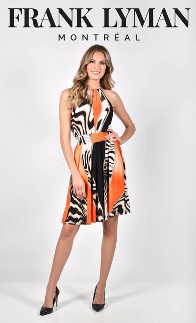 Frank Lyman Vibrant Print Fit And Flare Dress  (211304)