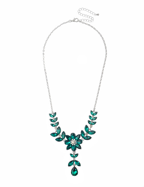Gn190167-6 Emerald Green Stone Necklace ()
