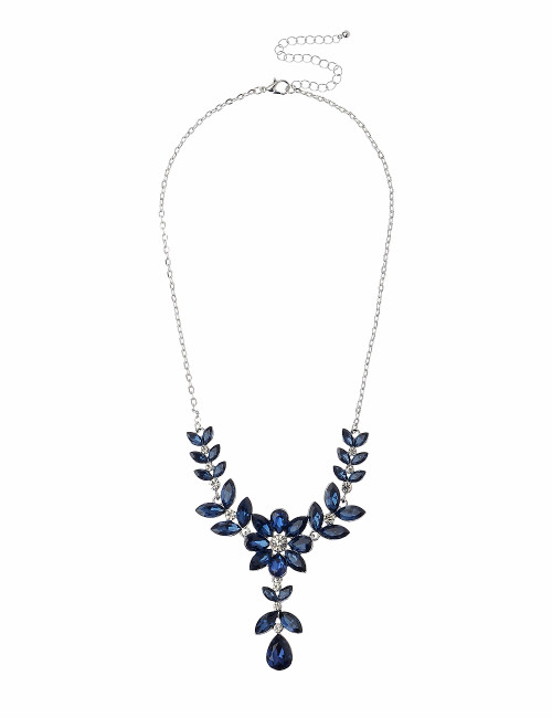 Gn190167-5 Blue Stone Necklace ()