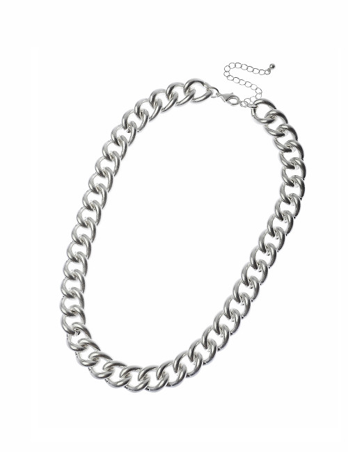 K1Cn119003-2 Heavy Chainlink Necklace ()