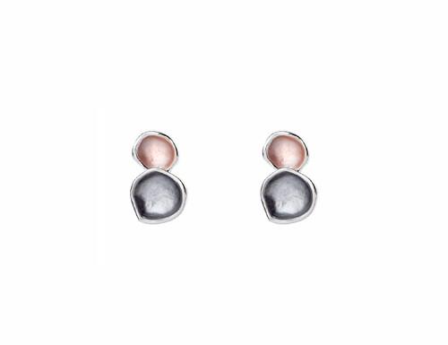 Me17120408Rggr Double Circle Stud Earrings  ()