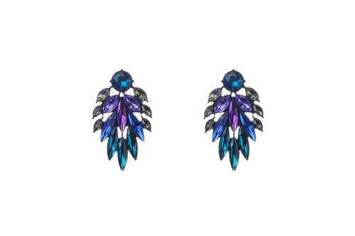 Yh163934Er Blue And Green Bead Earrings ()