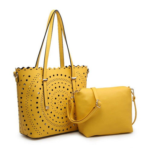Lm7212 Large Tote With Cut Out Detail ()