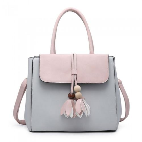 Ys2966 Large Handbag With Flower Detail ()