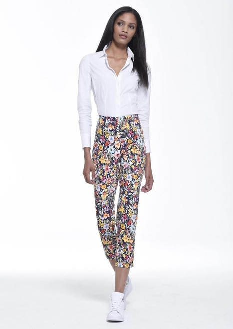 52513 54044 Robell Trousers Floral Multi Colour ()