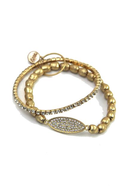 Gold Double Layered Bracelet (1528/B/E)