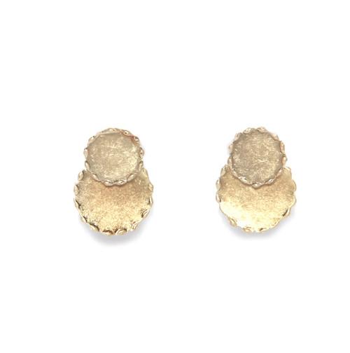 Gold Circle Drop Earrings (1069/GD/E/C)