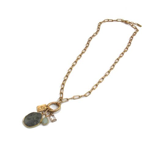 Gold Link Necklace (1520/GD/N/H)