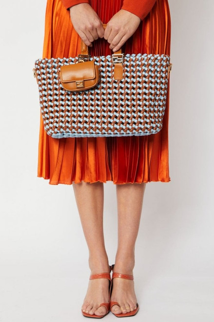 Hand Knitted Two Toned Tote Bag (PBG395A-07S)